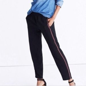 🌈 Madewell Black Tapered Tuxedo Style Pants S